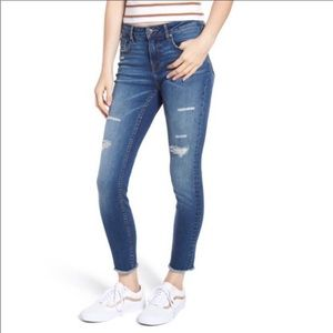 Vigoss The Jagger Skinny Distressed Raw Hem Jeans
